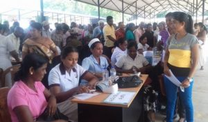 Public health nursing officers working with noncommunicable diseases in Sri Lanka